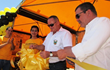 The Scientology Volunteer Ministers Latin American Goodwill Tour was welcomed to Jalapa, Guatemala, by the governor of the region, who cut the ribbon signaling the opening of their tent in Jalapa City.