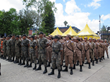 The Guatemala military attend the opening ceremony.