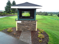 water-resistant outdoor TV solution The TV Shield, popular for golf clubs