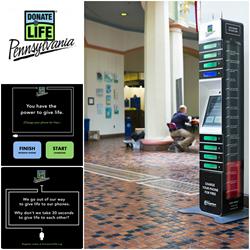 phone charging station hospital donatelife philadelphia
