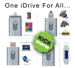 Back us on Kickstarter and reserve your iDrive - One iDrive for ALL...