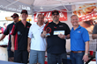 Bull Outdoors Products, Inc.Director of National Accounts and International Sales Will Hanson, Bull Founder and CEO Mark Nureddine, 2015 American Sale Bull Burger Battle Chicago Champ Naresh Nair and