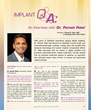 Implant Q & A: An Interview with Dr. Paresh Patel