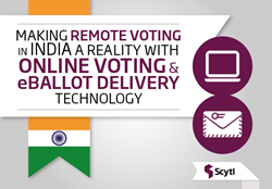 Scytl online voting and eballot delivery india