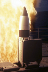 VLS missile launch