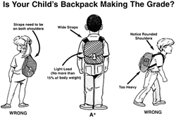 How does your childs back pack rate?