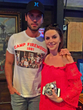 Chuck Wicks posted with Chase Martin post performance at 96.6 NASH FM's Summer Concert Series