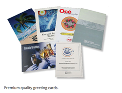 Greeting Cards with Various Paper Finishes