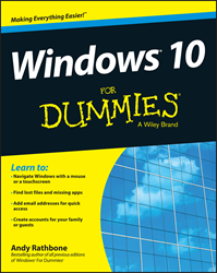 Windows 10 For Dummies, Windows 10 book, Andy Rathbone, Windows 10 For Dummies book