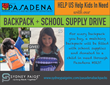 Sydney Paige® Reaches out to the Pasadena Community, Donating Backpacks and School Supplies to Kids in Need through the Pasadena Human Services and Recreation Department