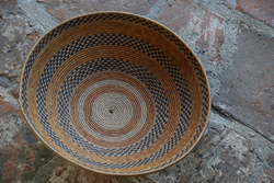 "This is one of 40 historic baskets that will be on display during USF's ""INTERWOVEN: Native California Basketry Arts from the Missions Forward."""