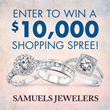 Samuels Jewelers Welcomes August with a $10,000 Sweepstakes