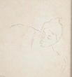 Woman Leaning, Looking Down; Original Drawing in Pencil by Mary Cassatt
