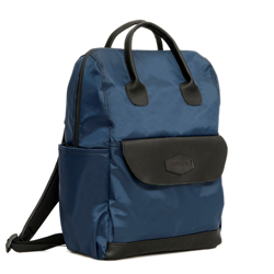 Balani Backpack—in blue tafetta