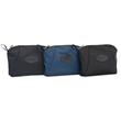 Etta Pouch—in black taffeta, blue taffeta, black ballistic nylon