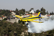 The U.S.-manufactured Air Tractor aircraft carry approximately 3,000 liters of water or fire retardant and can operate from airports or dirt strips. – Photo Amnon Ziv