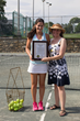 Ossining's own Jamie Loeb, 2015 NCAA Women's Singles Tennis National Champion, receives a special proclamation from Village of Ossining Mayor Victoria Gearity declaring August 3 as Jamie Loeb Day.