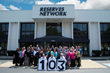 Staff from The Reserves Network celebrates SIA listing at their Fairview Park, Ohio, headquarters