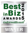 Best in Biz Awards 2015 International silver winner logo