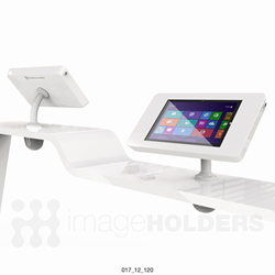 Shell+ 12 counter mounted iPad and tablet enclosure kiosk