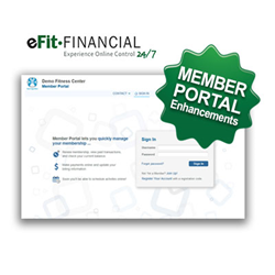 eFit Financial Member Portal Enhancements