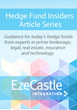 Eze Castle Integration Publishes Hedge Fund Insiders Article Series Offering Guidance for Hedge Fund Managers