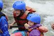 Kids rafting on the Arkansas River in Colorado.