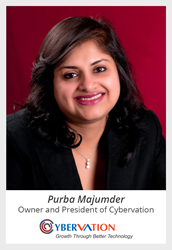 Purba Majumder, Owner and President of Cybervation