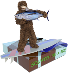 Squatch on a Box will soon be available