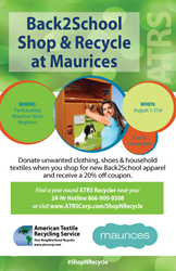 Maurices and ATRS Kick Off Shop&Recycle Campaign for Back To...