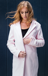 Jill Milan Fall Winter 2015 coat in pink (Photo: Ellian Raffoul for Moanalani Jeffrey Photography)