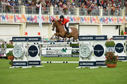 Katie Dinan, 22, helped the US team win the prestigious Aga Khan Trophy at the Furusiyya FEI Nations Cup Jumping™ 2014 in Dublin. (Tony Parkes/FEI)