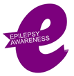 """Epilepsy Awareness: Charity Designs Bold Purple """"e"""" Ribbon to Stand Out From the Crowd"""