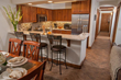 All of Antlers at Vail's guest suites include full kitchens, dining and living space, and recent Platinum upgrades include such features as slab granite ,  and stainless steel appliances.