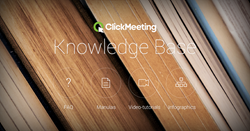 Knowledge Base includes manuals, video-tutorials, infographics and FAQs