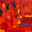 """""""Suggestions of Life in the Dappled"""" - a New Abstract-Figurative Art Show Opens at Hermitage Art Center."""