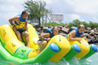 Double Rocker Attraction at Splash Island Water Park St. Lucia