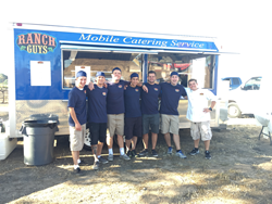 The Ranch Guys in front of the Food Trailer