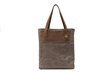 The Field Tote—in brown waxed-canvas and full-grain leather