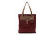 The Field Tote—burgundy waxed canvas
