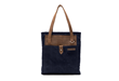The Field Tote—navy waxed canvas
