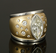 Ladies' Handmade Bezel Set Diamond Ring