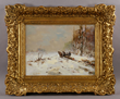 Louis Apol (Dutch, 1850-1936), winter scene, oil on panel, signed lower left