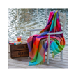 Avoca's Carnival cashmere blend throw brings out the joy and fun of life. This cashmere blend throw is soft, warm, cozy and beautiful woven in our mill in Avoca Village, Ireland.