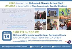 Richmond Climate Action Plan Workshop - August 18th