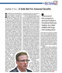 Outsourcing Gazette Includes DeRisk IT Inc. in 25 Most Promising QA/Service Vendors