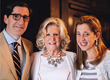 Anne Ford with her daughter Allegra Ford Thomas and son Alessandro Uzielli