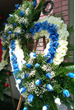 Heart shaped tribute flowers express what words cannot