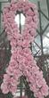Custom design breast cancer funeral flowers