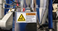 Clarion machine safety label